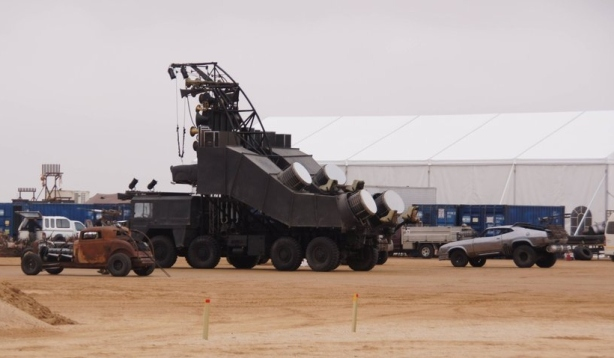 Vehicles on the set of Mad Max 4 Namibia