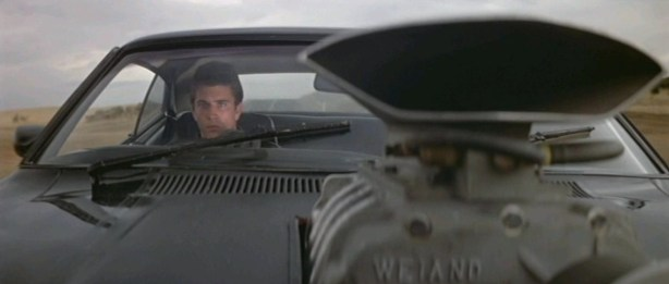 Mad Max behind the wheel of the V8 Ford XB Interceptor