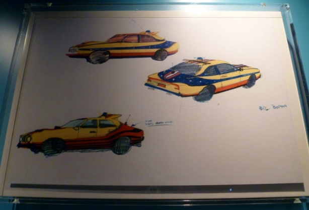 Production drawings Mad Max MFP Pursuit Vehicles ACMI Screen Worlds Melbourne