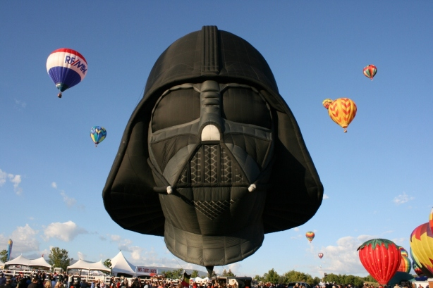 Darth Vader hot air balloon reno balloon races 2012