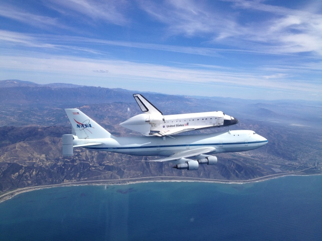 Space Shuttle Endeavour over Ventura California September 2012 NASA