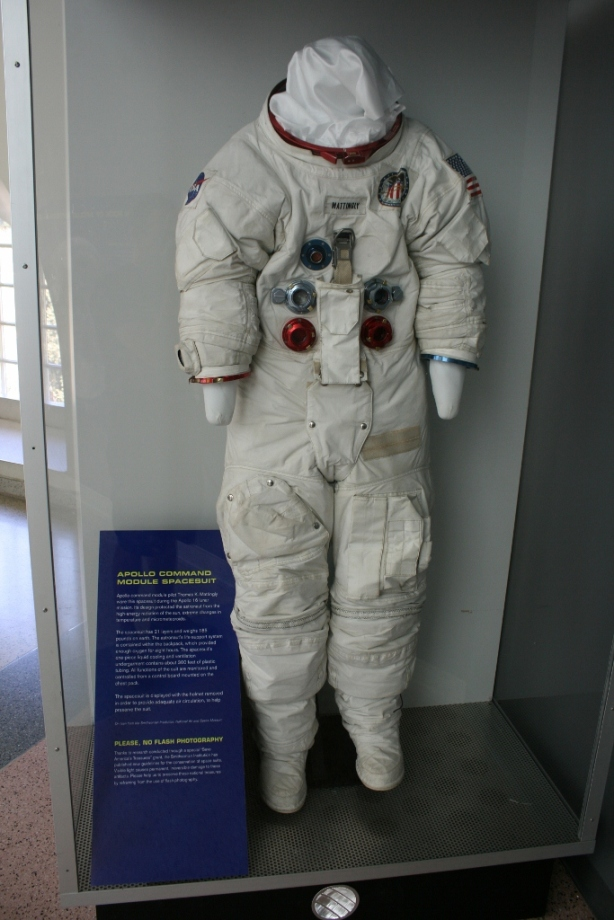 Apollo 16 command module spacesuit thomas k mattingly 1972 California Science Museum