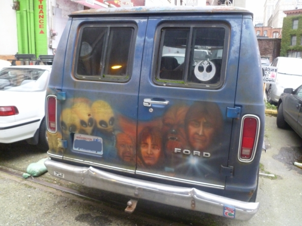 The Force Van Star Wars Van Seattle
