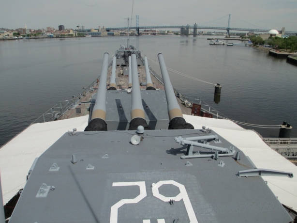 Bridge view USS New Jersey BB-62