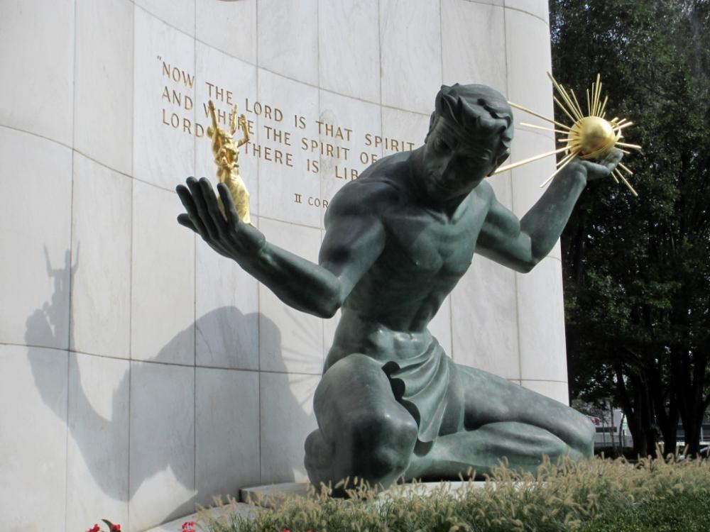The Spirit of Detroit statue