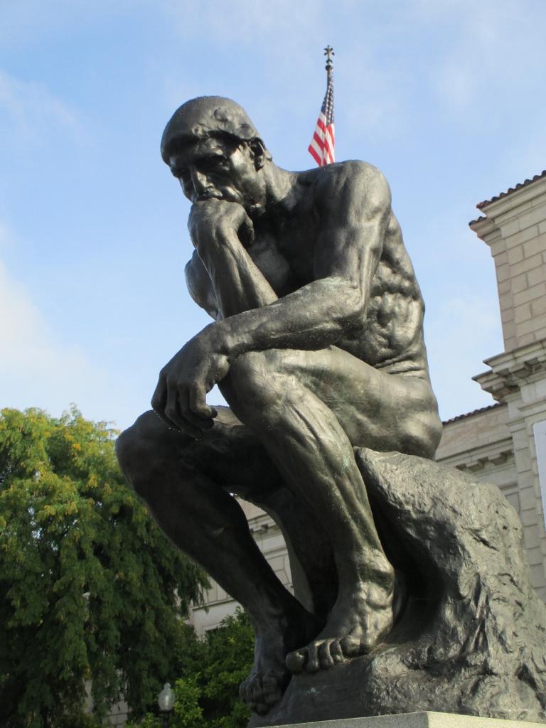 Rodan's The Thinker outside the Detroit Institute for Arts