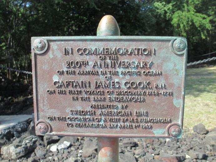 Captain Cook Monument Kealakekua Bay Hawaii