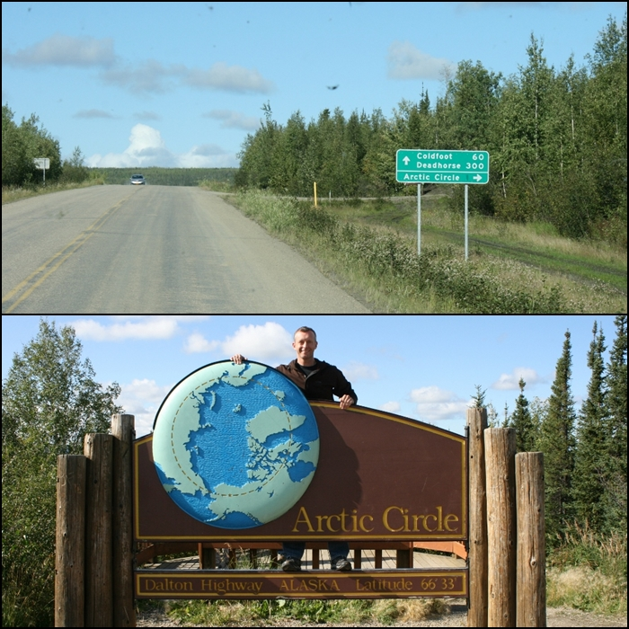 Arctic Circle sign Alaska
