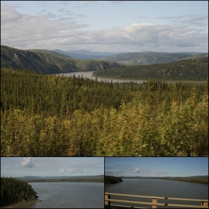 Crossing the Yukon River Alaska